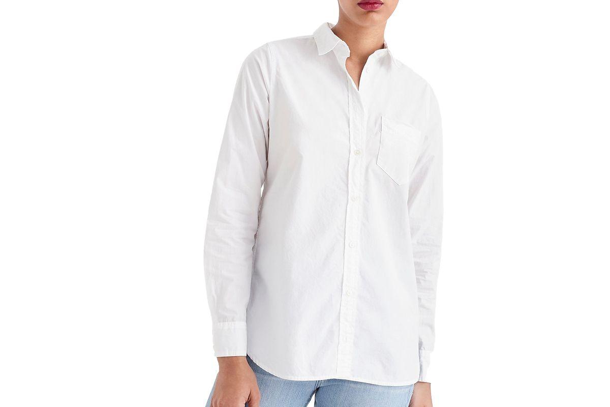 j.crew classic fit boy shirt in cotton poplin