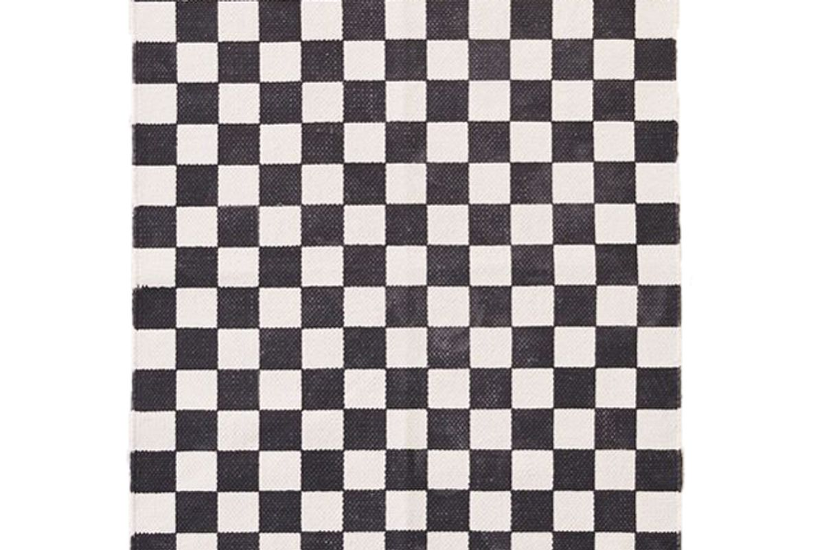 urban outfitters checkerboard printed rug