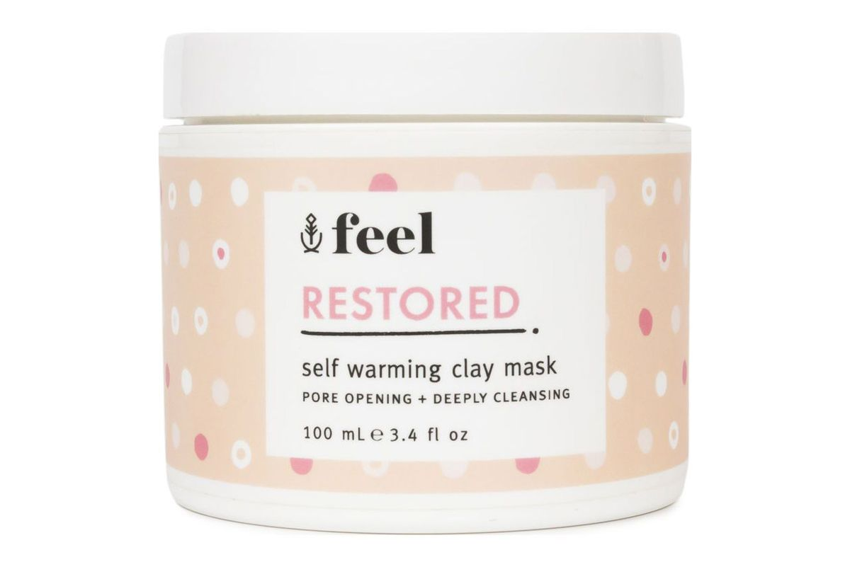 feel restored self warming clay mask