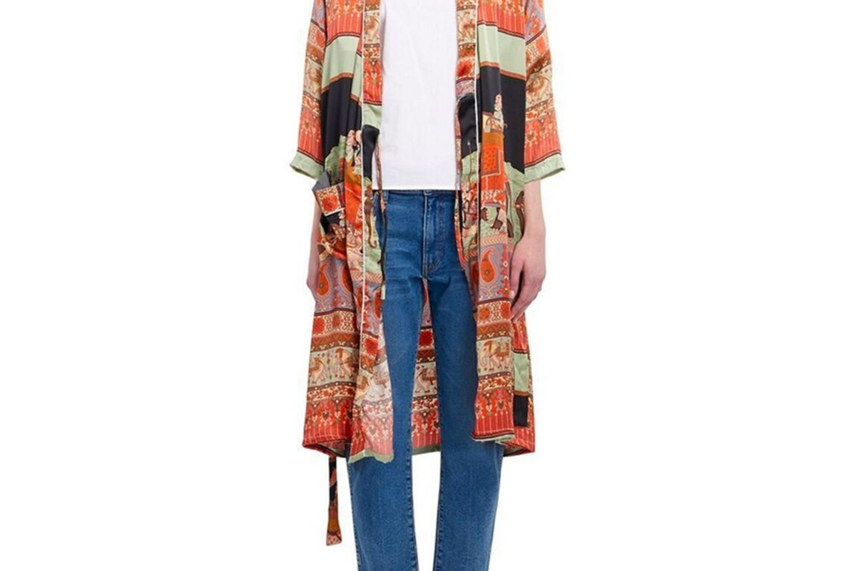 Printed Silk Robe