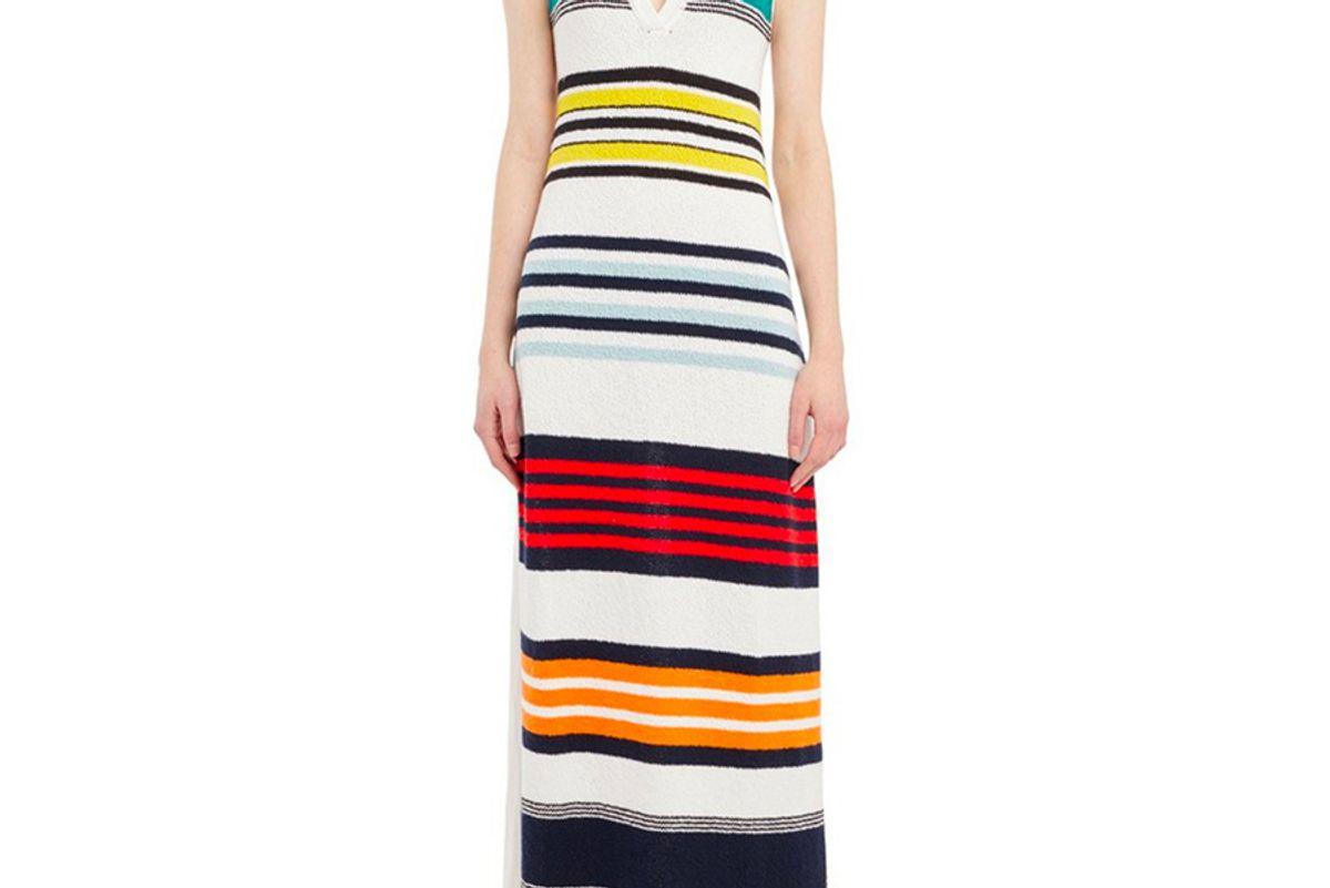 Multicolor Striped Sweater Dress
