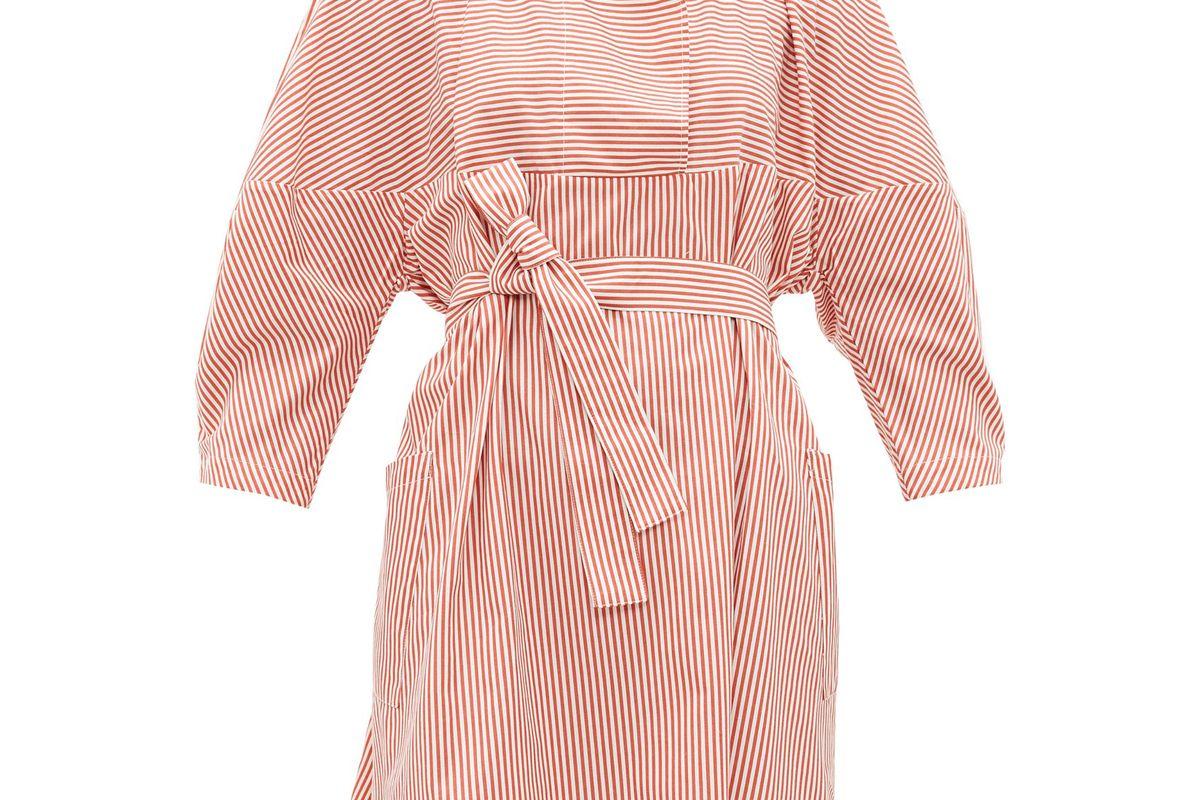 palmer harding sailor collar striped cotton poplin shirt dress