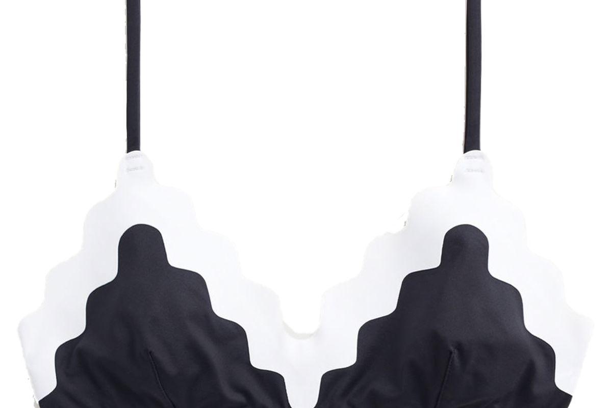 mango bicolor bikini top