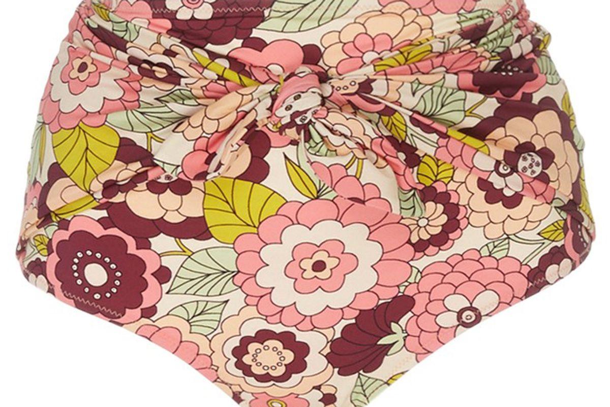 dodo bar or kayla floral print high rise bikini bottom