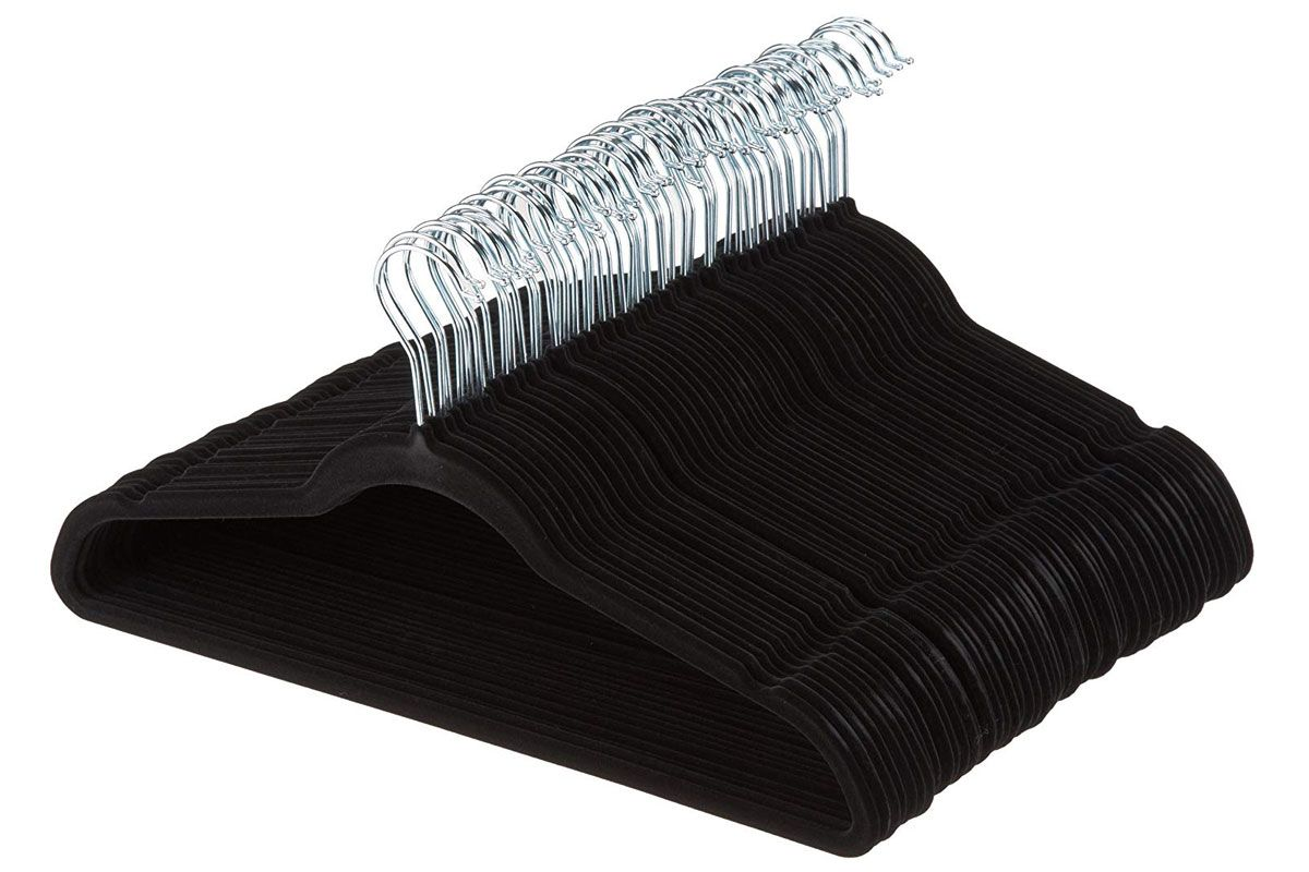 amazon basics velvet suit hangers
