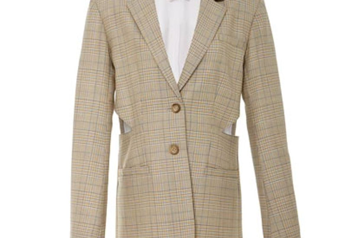 tibi cut out pleated blazer