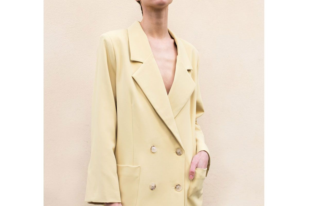 frankie shop meadow yellow patch pocket blazer