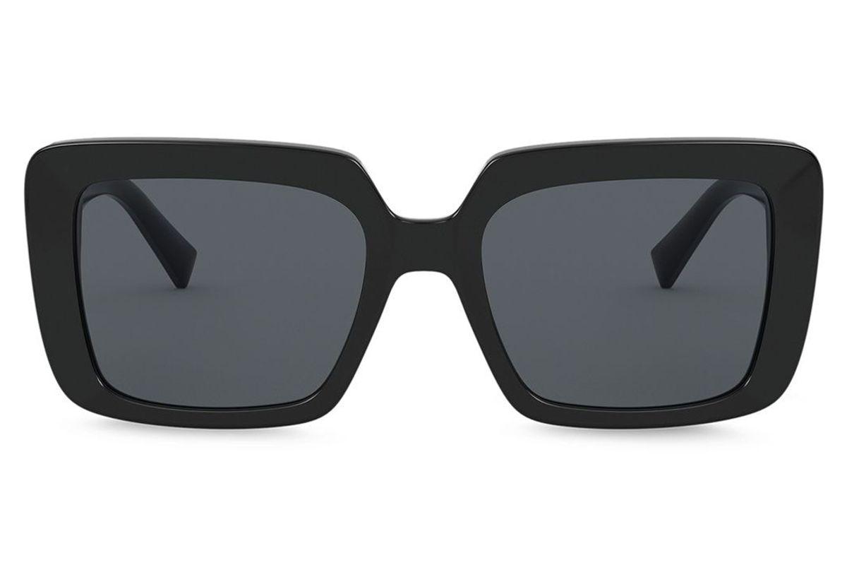 versace eyewear bejewelled oversized frame sunglasses