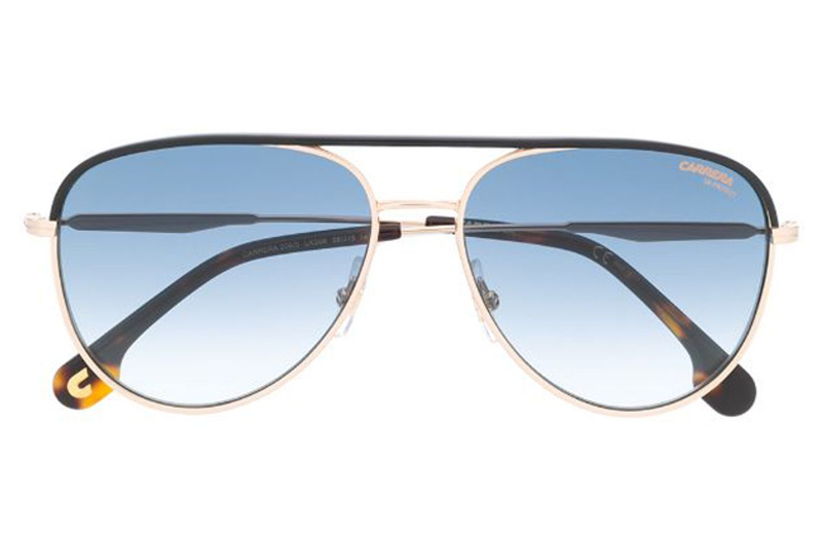 carrera aviator shaped sunglasses