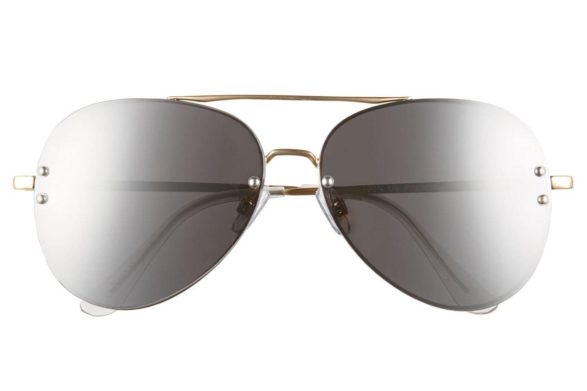 bp 60mm oversized mirrored aviator sunglasses