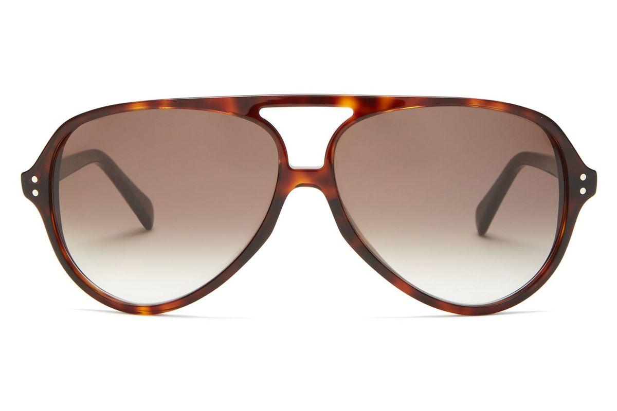 celine eyewear tortoiseshell acetate aviator sunglasses