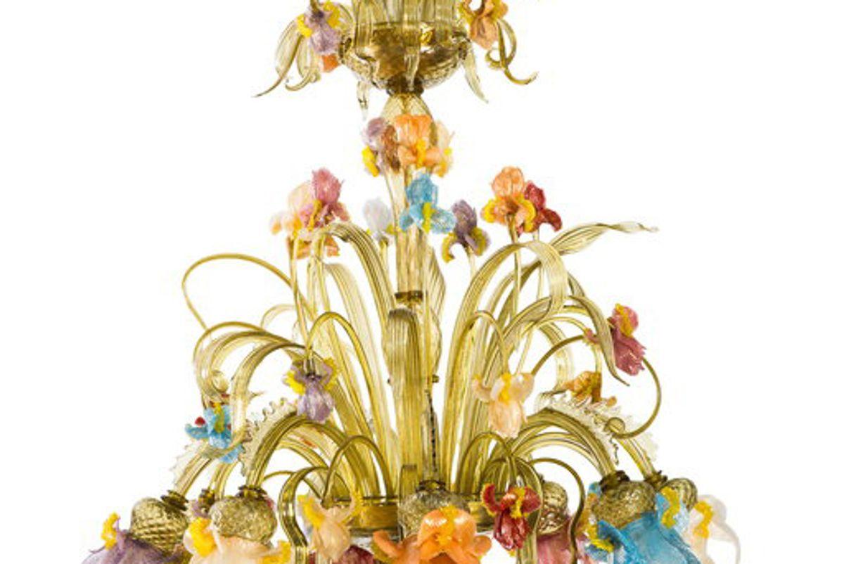 striulli vetri d'arte iris murano glass chandelier