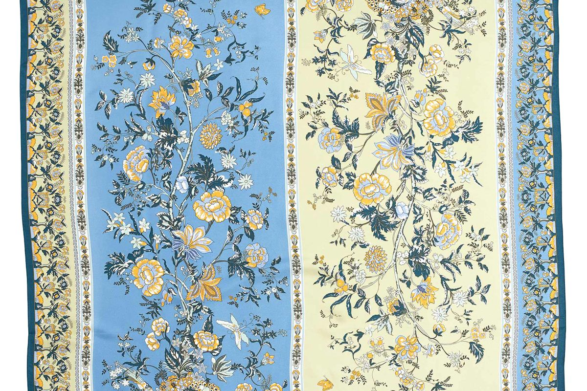 echo floral tree silk square