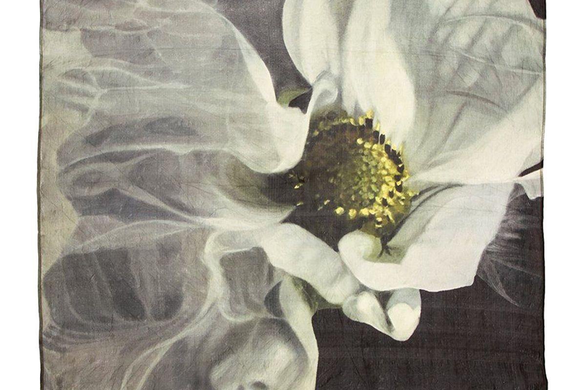 chan luu artist series i floating flower silk scarf