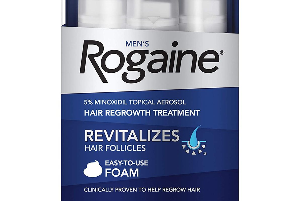 rogaine mens 5 percent minoxidil foam for hair regrowth unscented