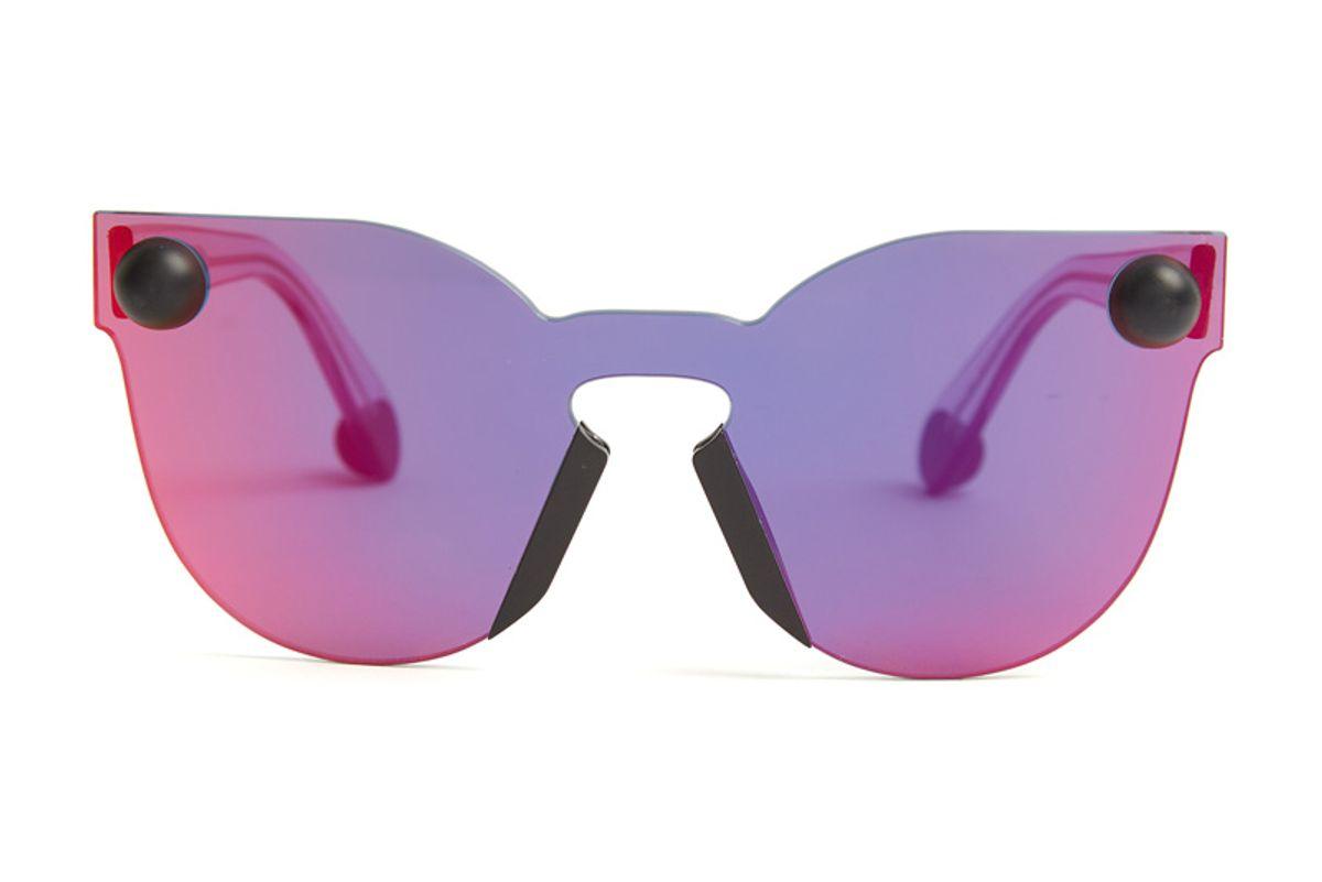 Bumper Rimless Cat-Eye Sunglasses