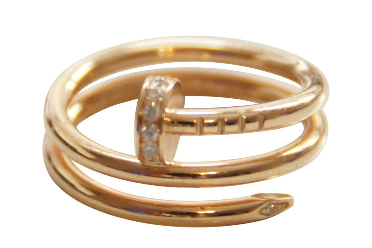 cartier juste un clou yellow gold ring
