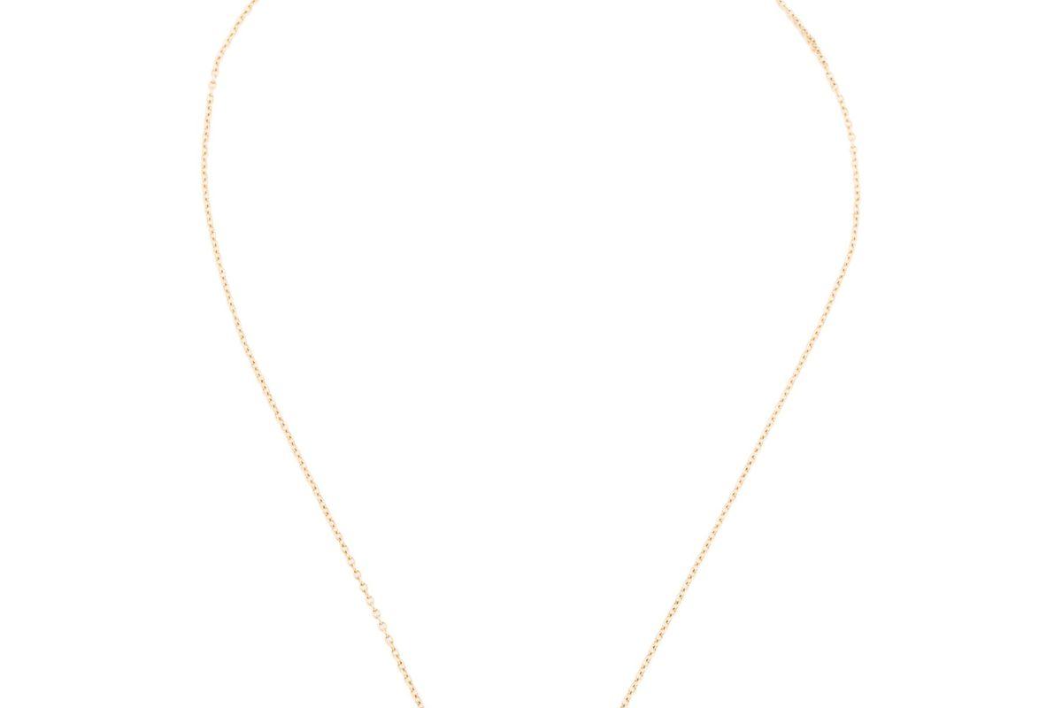 mizuki 14k pearl fluid pendant necklace