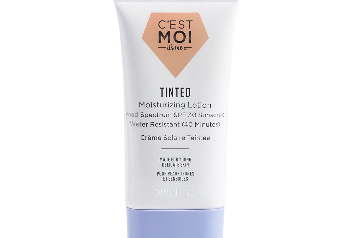 cest moi tinted moisturizing lotion broad spectrum spf 30 sunscreen