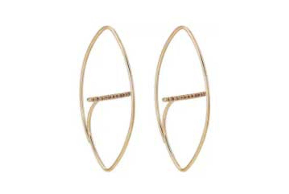 hirotaka gossamer floating earrings