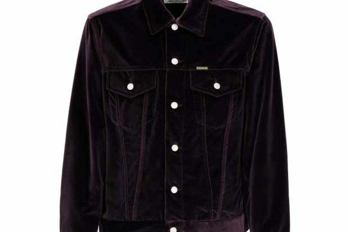 wacko maria velour trucker type 1 jacket