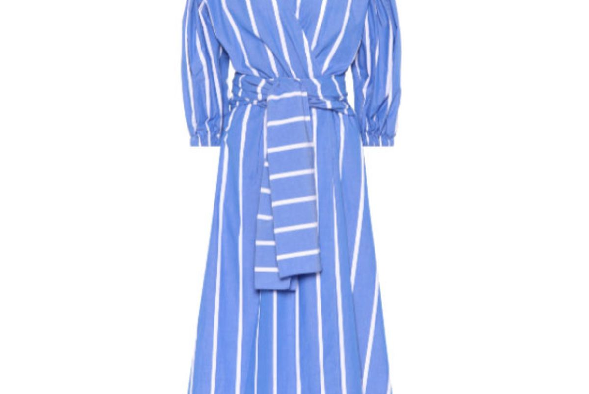 rejina pyo miriam striped cotton dress