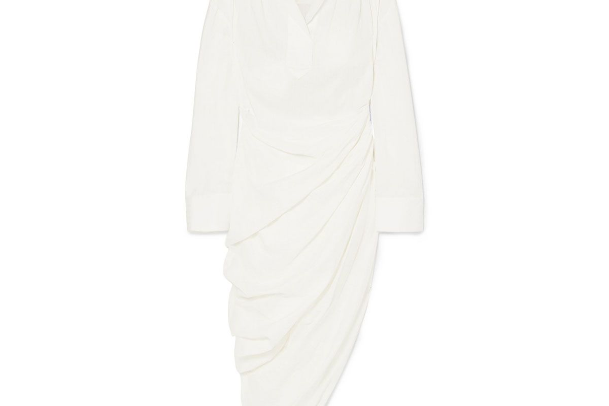 jacquemus amadora asymmetric cotton dress