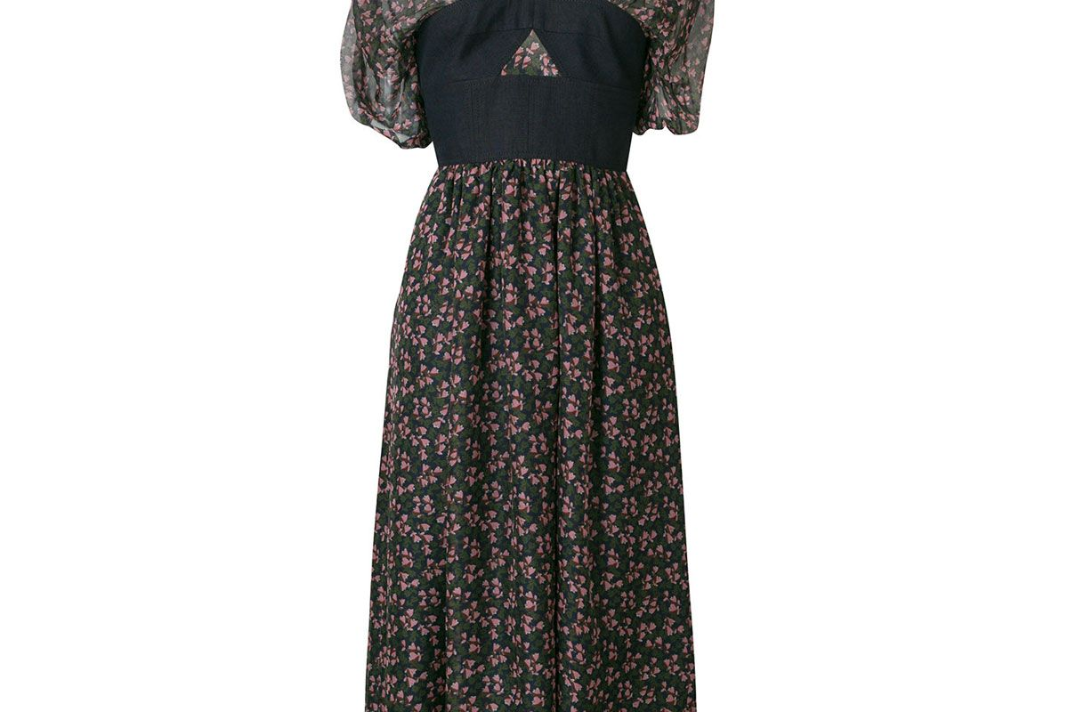 alexa chung bella floral print bodice dress