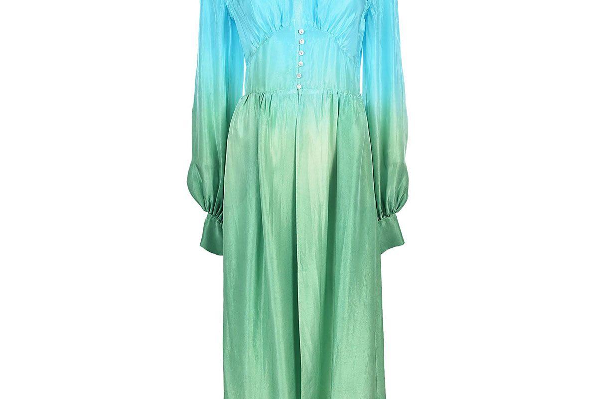 attico ombre robe dress