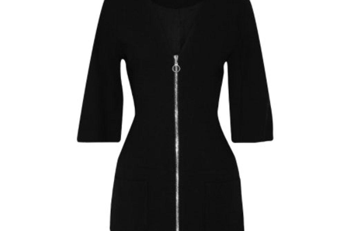 Dominique Wool-Crepe Mini Dress