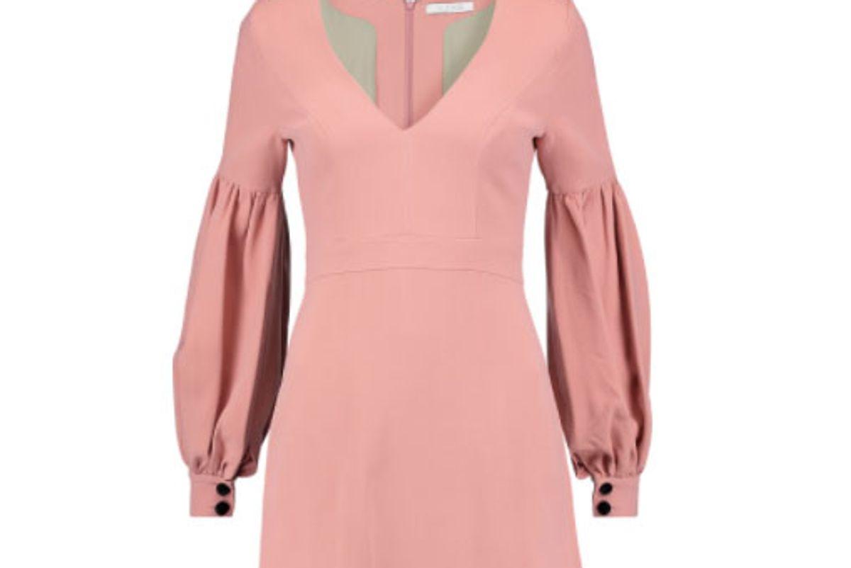 Ellena Gathered Crepe Mini Dress