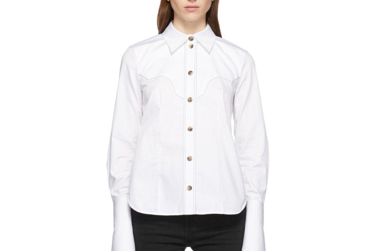 khaite white dena shirt