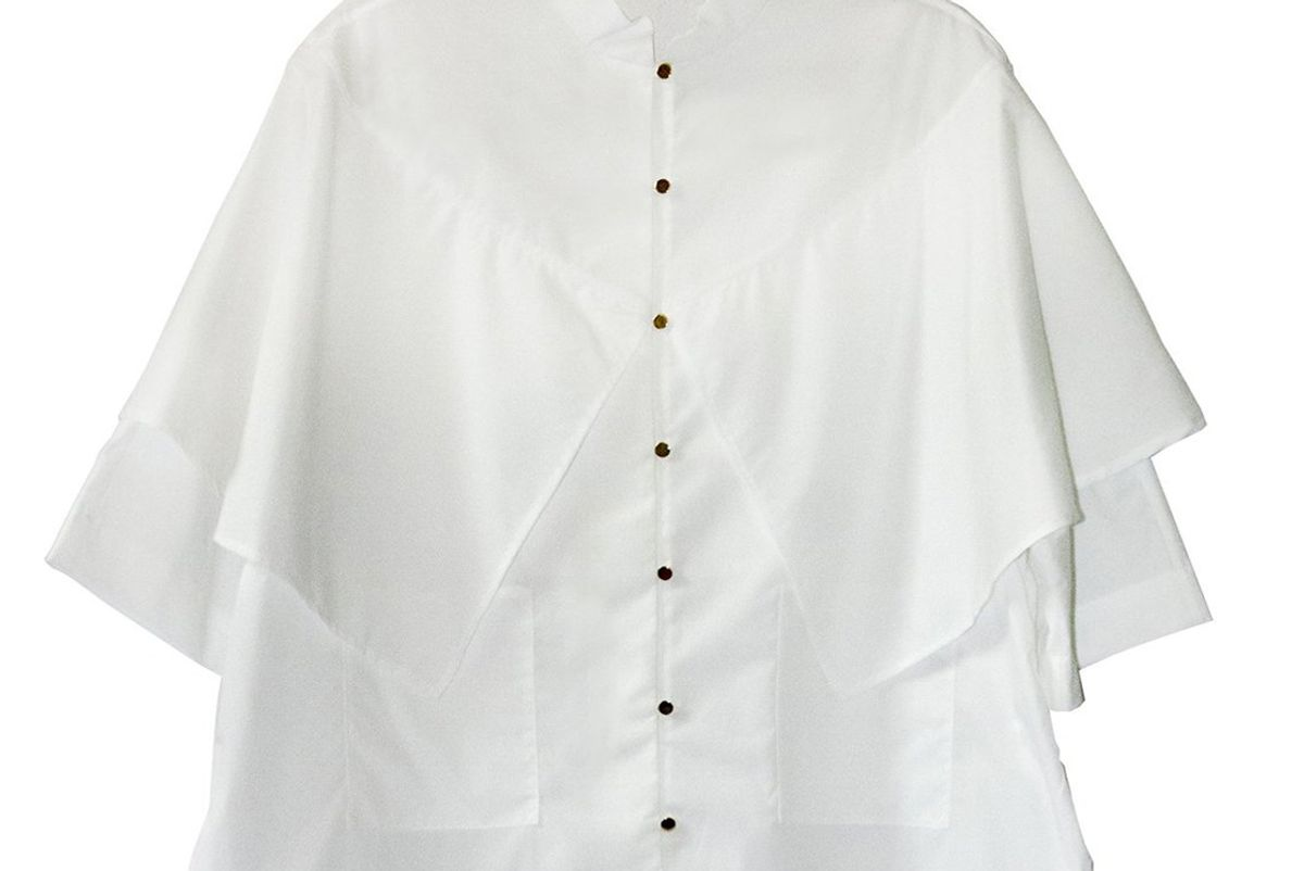 suzanne rae mandarin collar shawl top