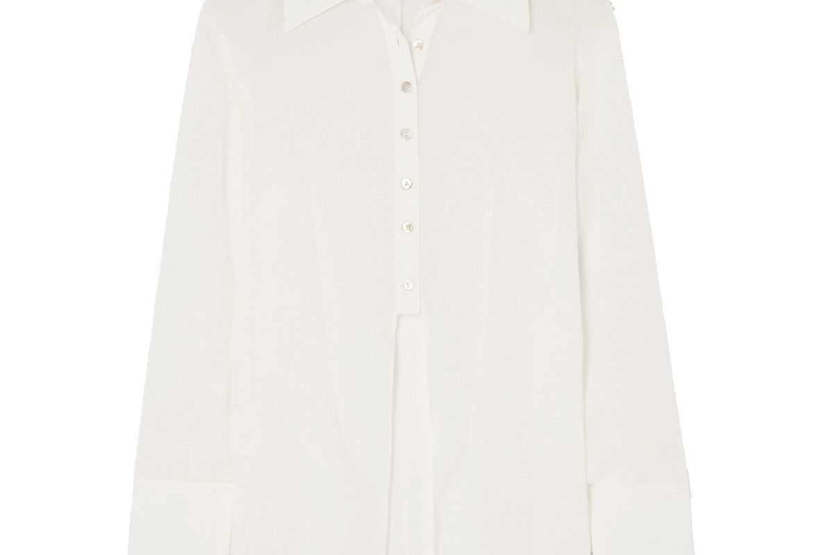 the line by k leomie shirt white