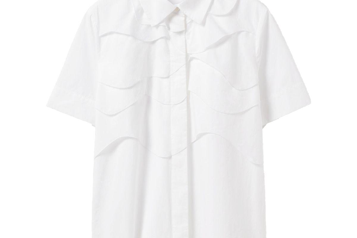 cos layered cotton shirt