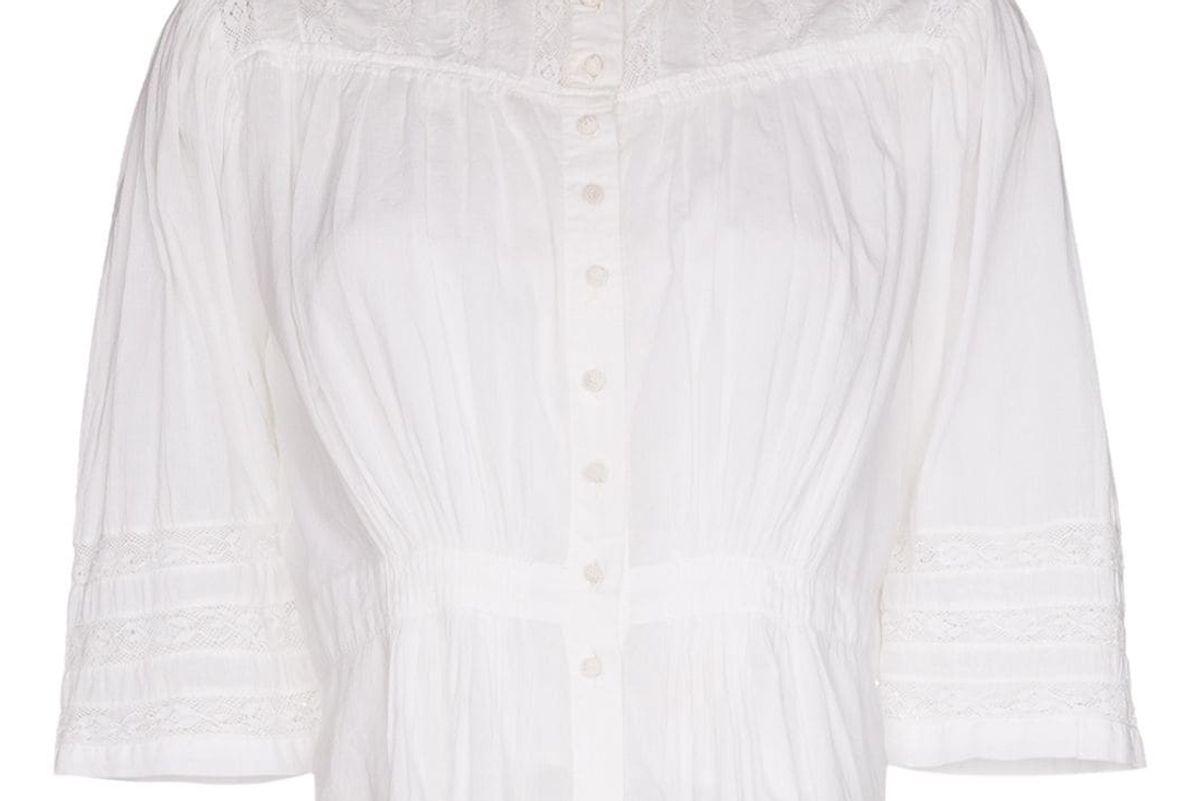 mimi prober quarter sleeve gigi sleeve blouse