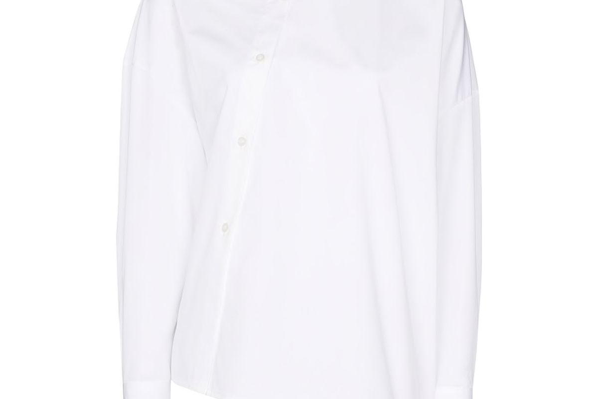 toteme asymmetric cotton shirt