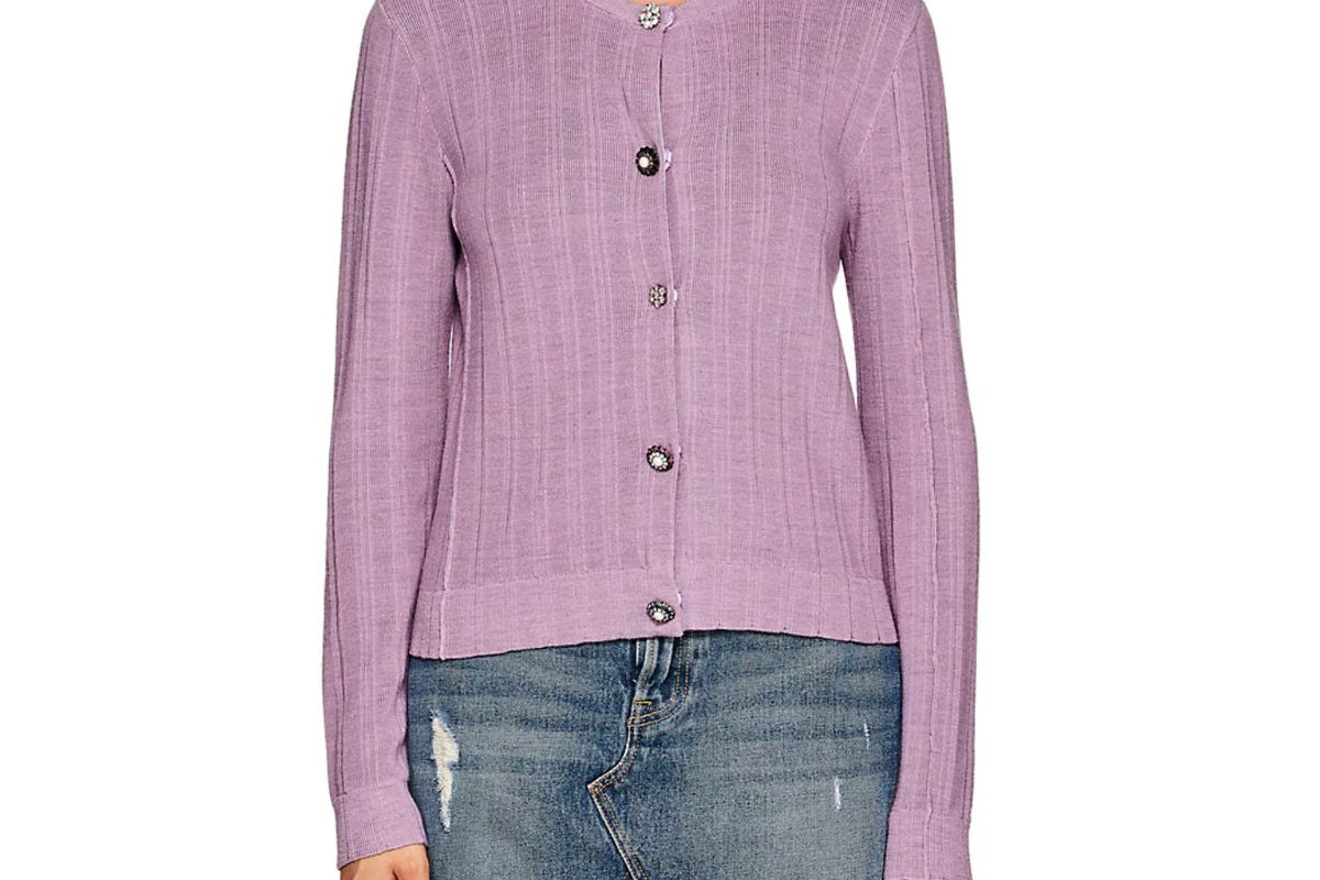 marc jacobs button detail wool silk cardigan