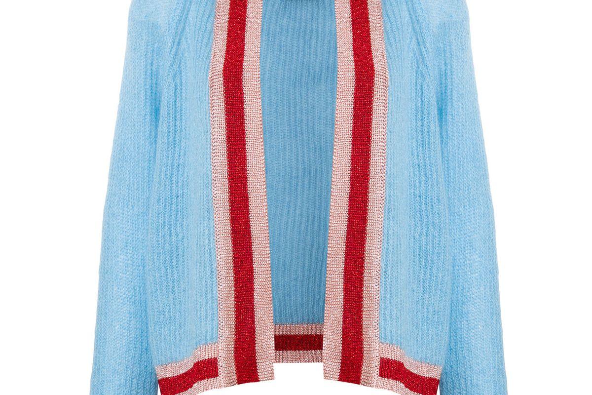 essentiel antwerp contrast trimmed cardigan