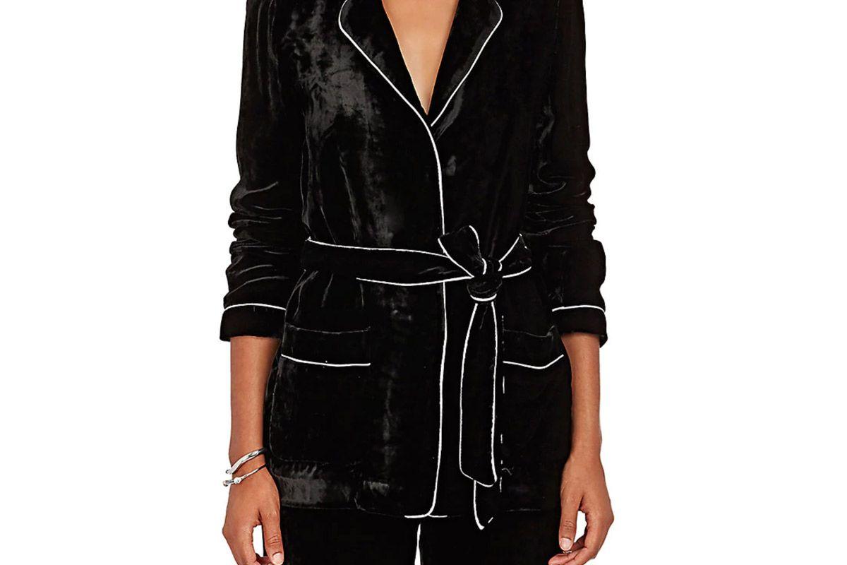 barneys new york velvet robe jacket
