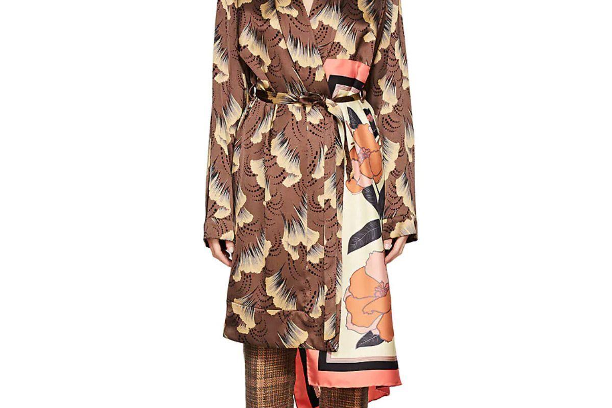 dries van noten racun floral satin robe