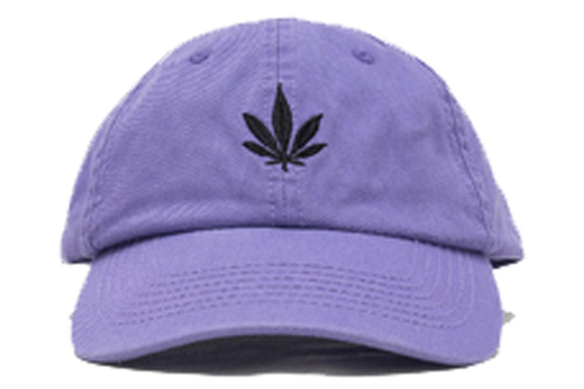 Purple Vintage Weed Cap