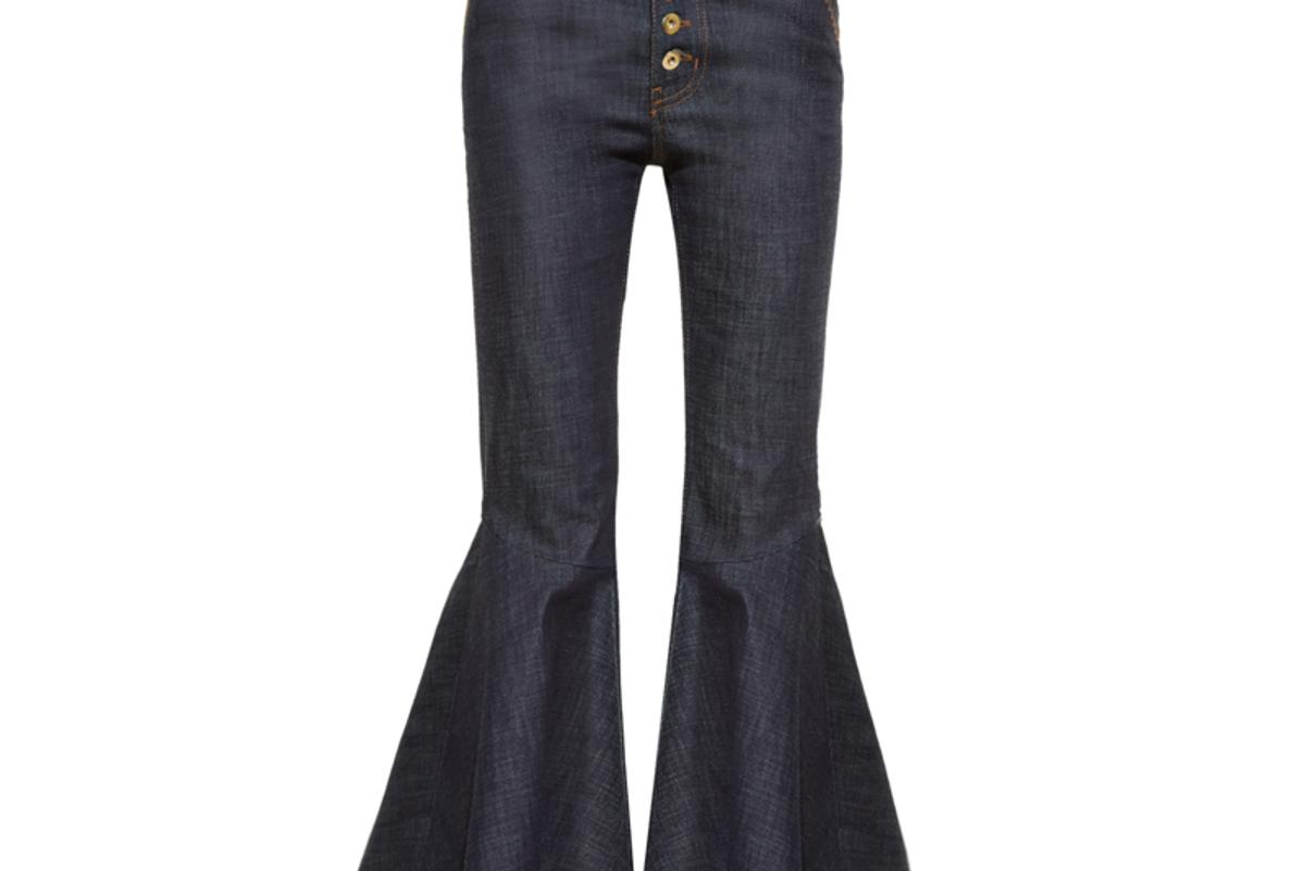 Hysteria High-Rise Ruffled-Cuff Jeans