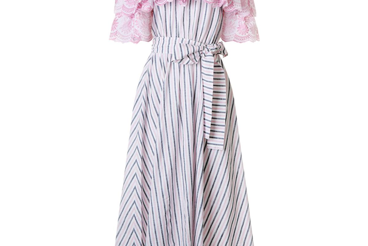 Pink Off The Shoulder Bell Dress