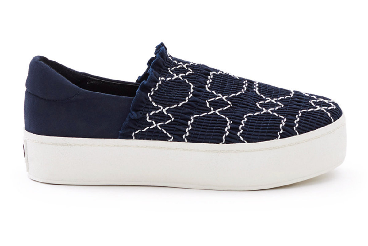 Cici Smocked Slip-On Sneakers