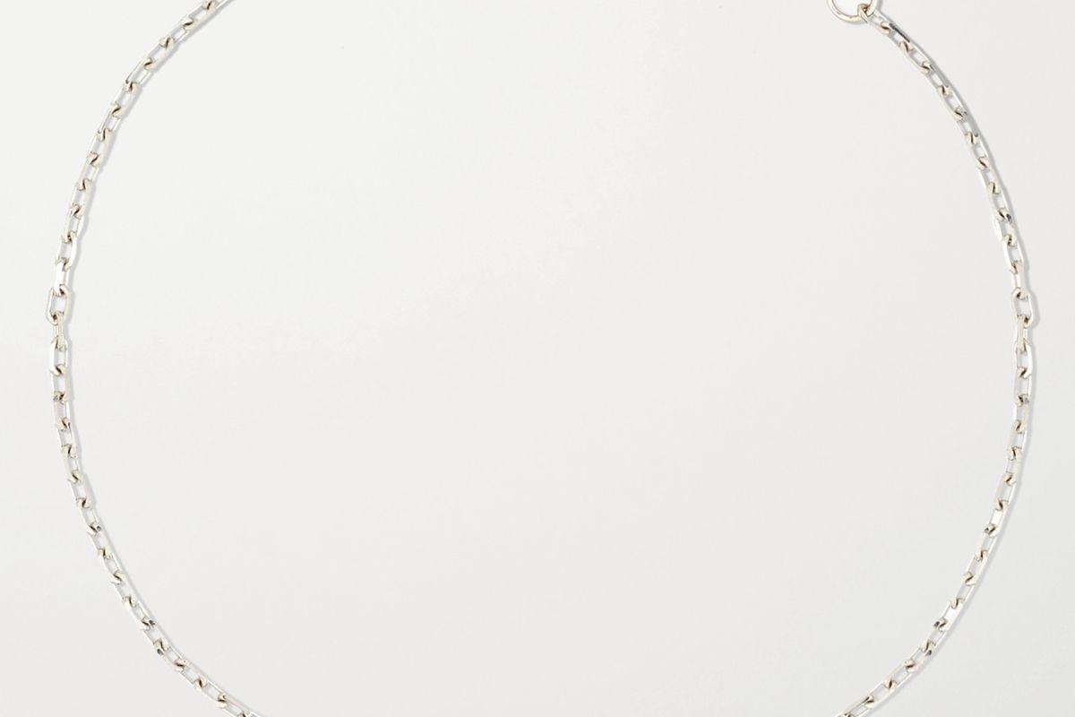 kimberly mcdonald 18 karat white gold diamond anklet