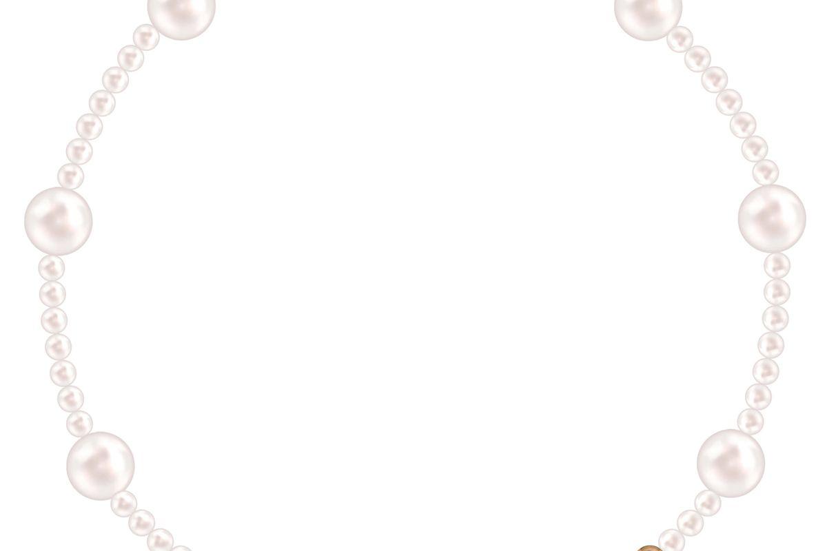 rosa pearl wave anklet