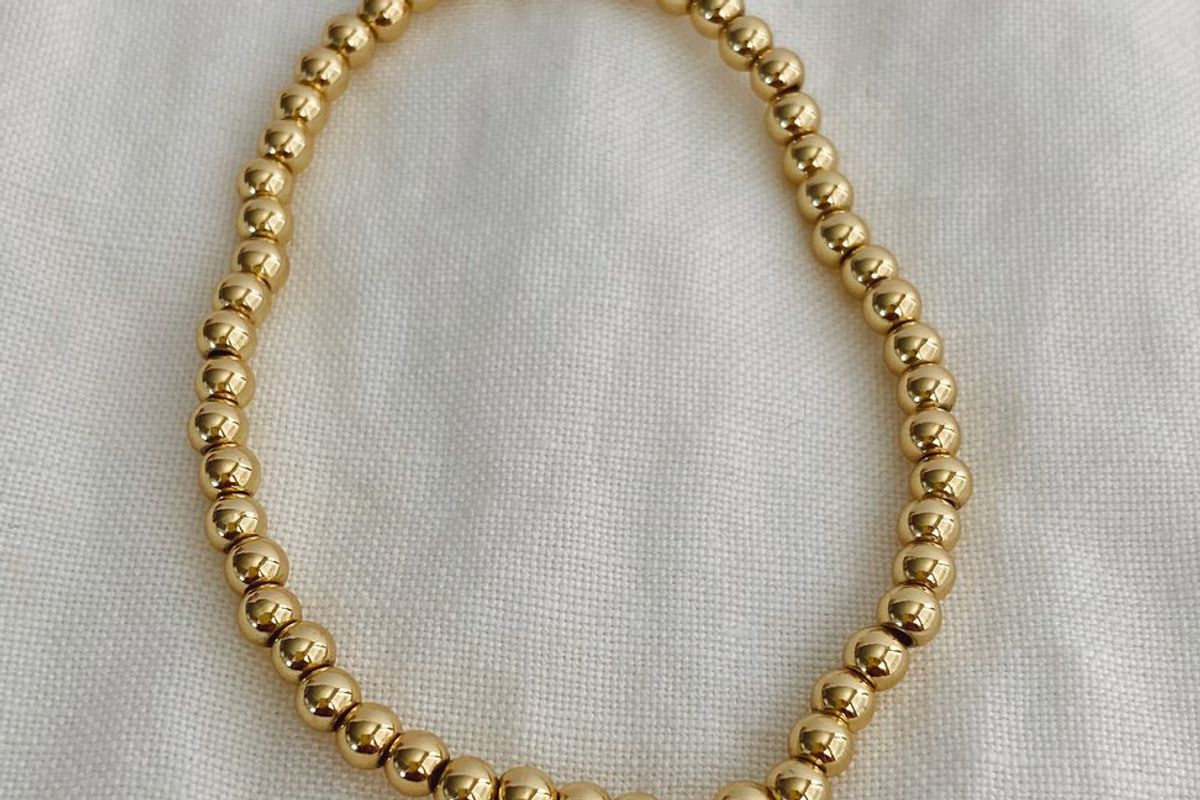 stella and haas stretchy gold filled bracelet
