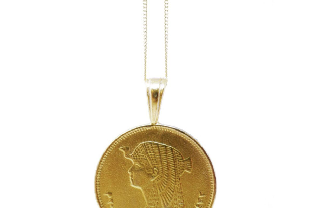 omi woods the egyptian coin necklace stack ii