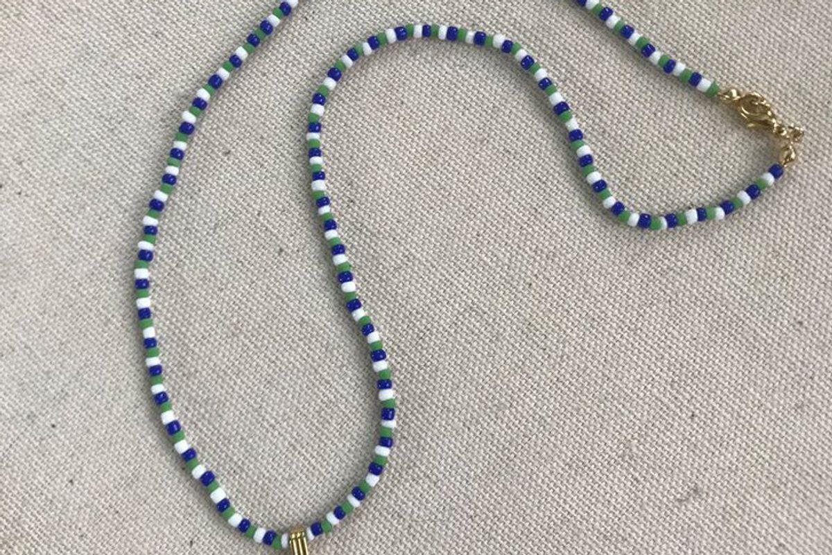 nandi naya fig hand beaded necklace